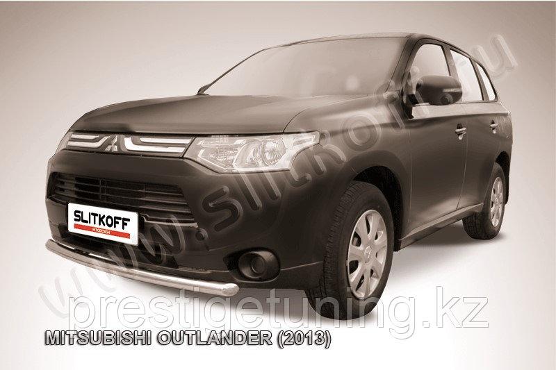 Защита переднего бампера d57 короткая Mitsubishi Outlander 2012-14