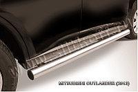 Защита порогов d76 труба Mitsubishi Outlander 2012-14
