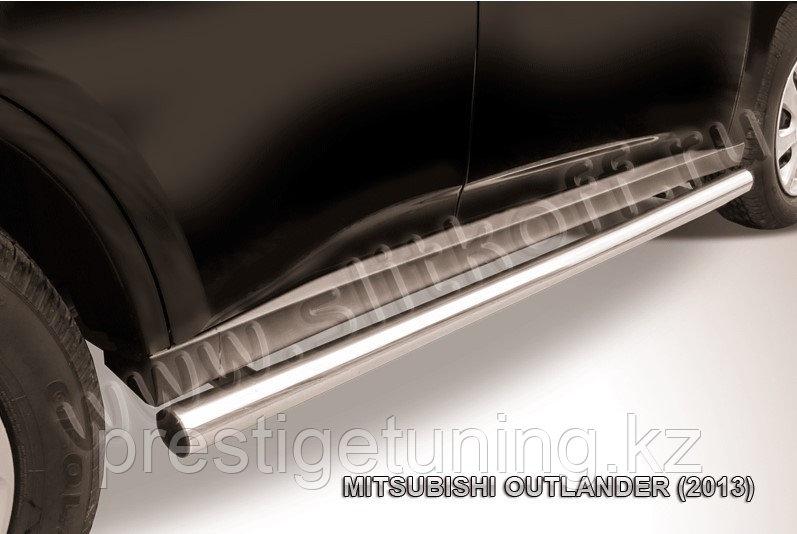 Защита порогов d57 труба Mitsubishi Outlander 2012-14