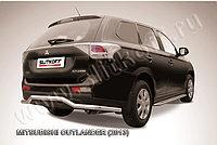 "Защита заднего бампера d57 ""волна"" длинная Mitsubishi Outlander 2012-14"