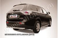 Защита заднего бампера d57 короткая Mitsubishi Outlander 2012-14