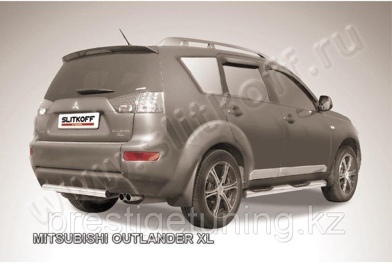 Защита заднего бампера d57 Mitsubishi Outlander XL