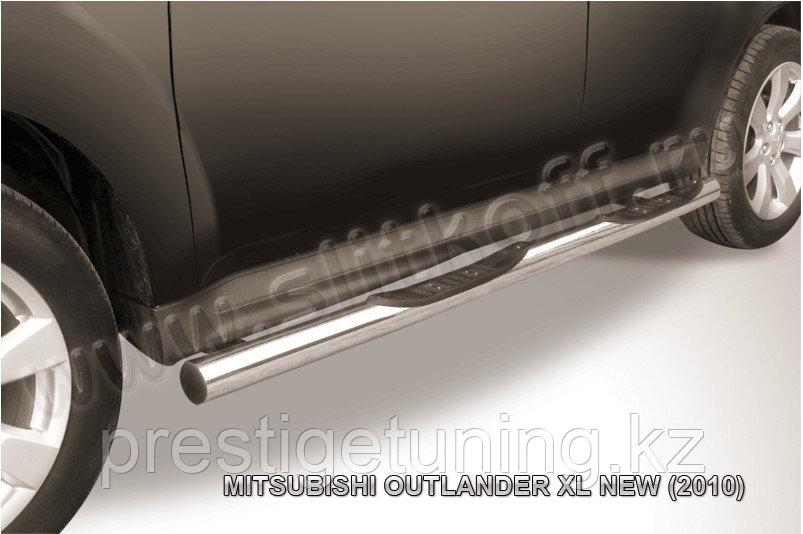 Защита порогов d76 с проступями Mitsubishi Outlander XL