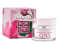 Антивозрастной крем для лица с Q10 Rose of Bulgaria