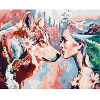 "Картина по номерам ""Девушка с волком"", худ. Димитра Милан, 40х50 см"