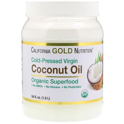 Органическое кокосовое масло первого отжима нерафинированное, 1,6 л, California Gold Nutrition
