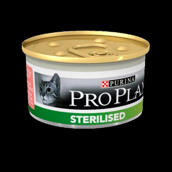 Консервы Pro Plan для стерилизованных кошек и кастрированных котов (Тунец и лосось) - 85 г