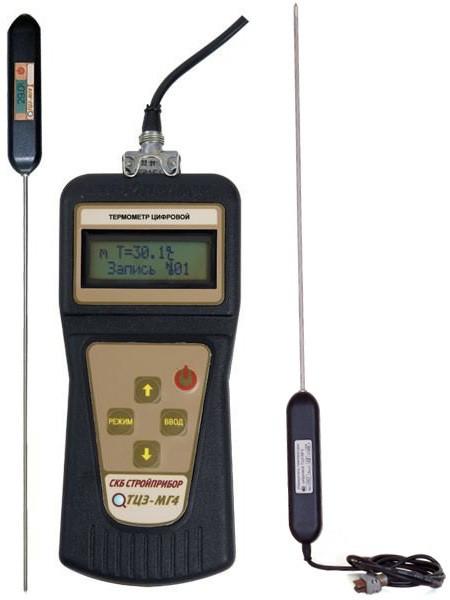 Термометры цифровые зондовые ТЦЗ-МГ4, ТЦЗ-МГ4.01, ТЦЗ-МГ4.03 и ТЦЗ-МГ4.05