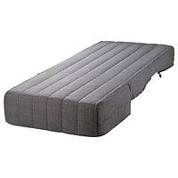 Чехлом с матрасом ЛИКСЕЛЕ Шифтебу темно-серый 80x188 см ИКЕА, IKEA