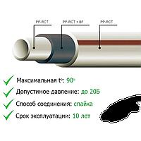 Труба ППР армир базальтовая 32*4,4 PN20 бел 1шт-4м 1уп-10шт-40м 0,42 кг/м Тур Pilsa
