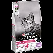 Корм Pro Plan для кошек с чувствительным пищеварением и привередливых к еде (Индейка) -1.5 кг