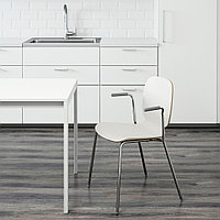 СВЕН-БЕРТИЛЬ Легкое кресло, белый, Дитмар хромированный, фото 1