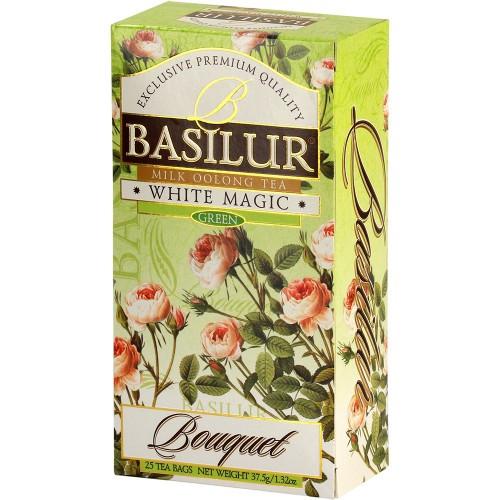 Чай зелёный пакетированный Букет Белое волшебство White Magic, 20пак Basilur