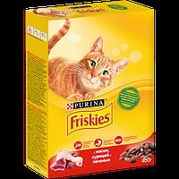 Корм Friskies для взрослых кошек (Мясо, курица и печень) - 400 г