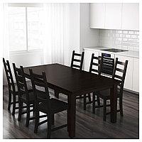 СТУРНЭС Раздвижной стол, коричнево-чёрный, 201/247/293x105 см, фото 1