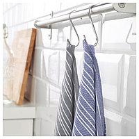 ТИМВИСАРЕ Полотенце кухонное, темно-синий, черный, 50x70 см, фото 1