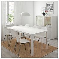 ТИНГБИ / ЛЕЙФ-АРНЕ Стол и 6 стульев, белый, белый, 180x90 см, фото 1