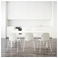 ТИНГБИ / ЛЕЙФ-АРНЕ Стол и 6 стульев, белый, белый, 180 см, фото 1