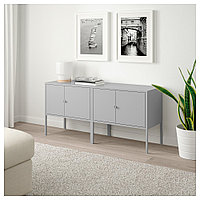 ЛИКСГУЛЬТ Комбинация шкафов, серый, 120x35x57 см, фото 1