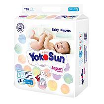 Подгузники YokoSun S ( до 6 кг ) 82 штуки для новорожденных