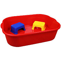 Набор для песка (ёмкость 250л+2 табурета), Красный, М4679