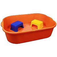 Набор для песка (ёмкость 250л+2 табурета), Оранжевый, М4683