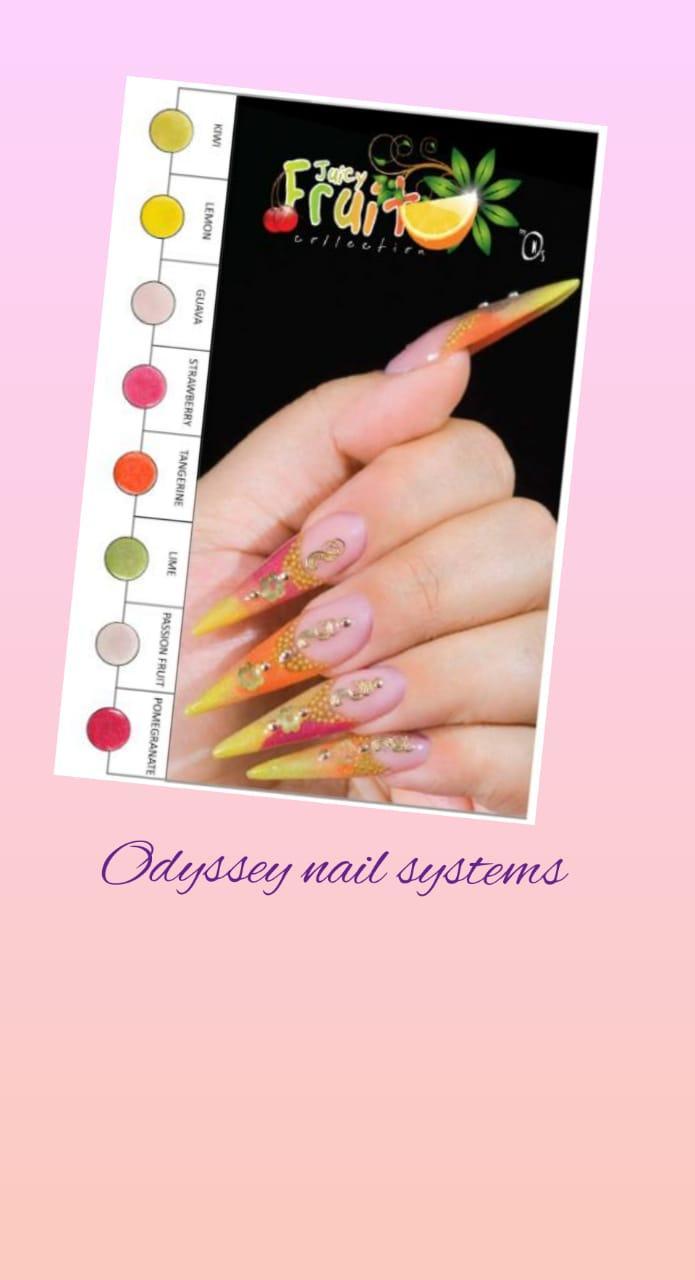 Коллекция цветных акрил JUICY FRUIT Odyssey Nails Systems