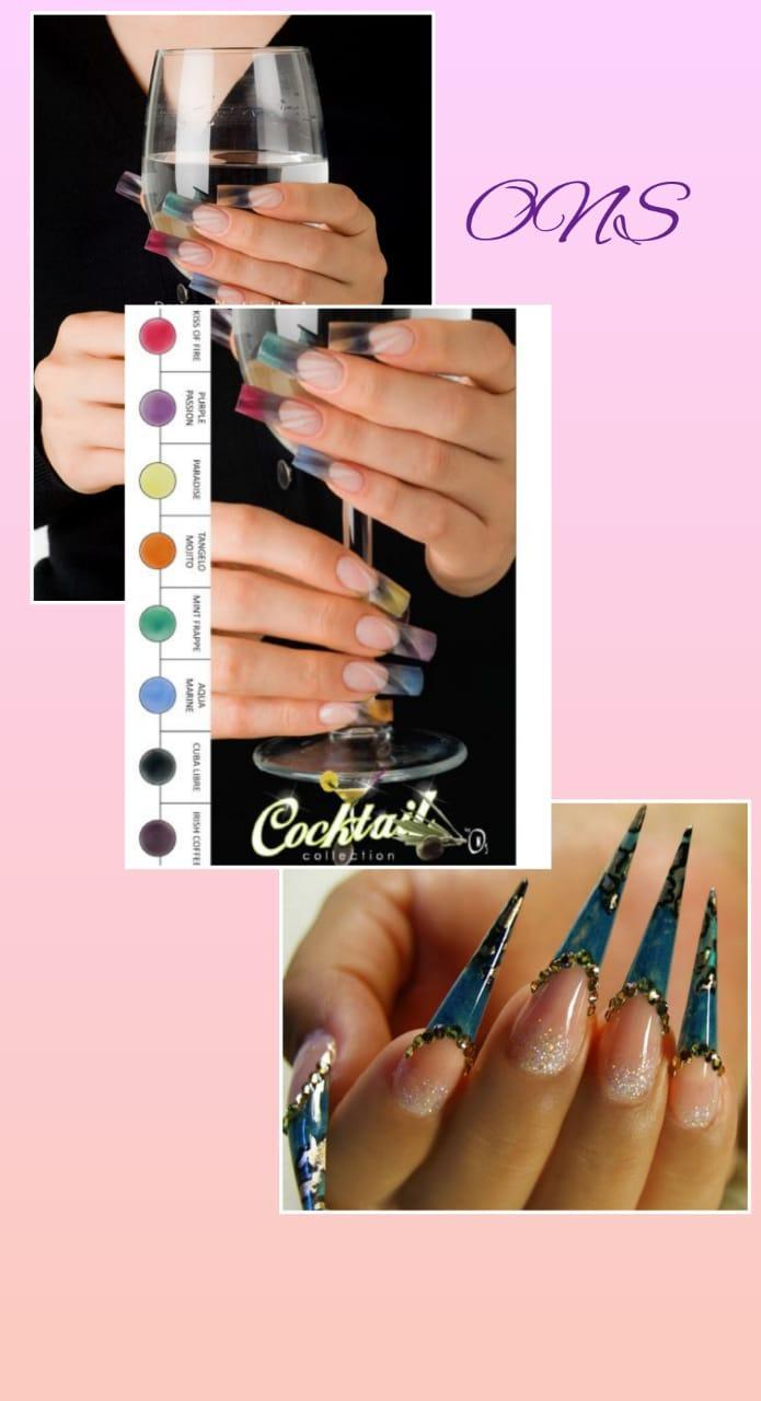 Коллекция цветных акрил Cocktail Odyssey Nails Systems