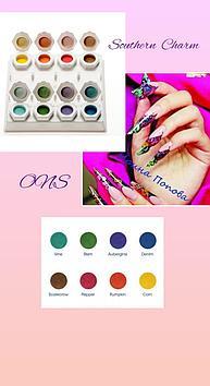 Коллекция цветных акрил Southern Charm Odyssey Nails Systems