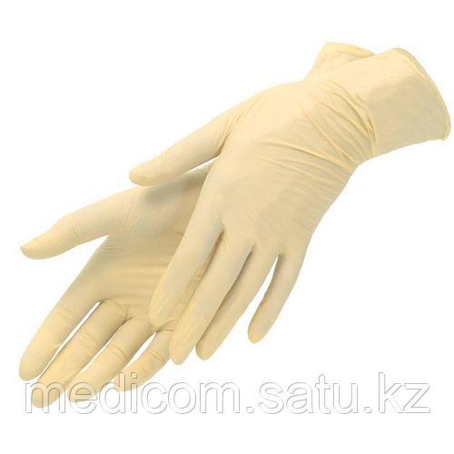 Перчатки латексные нестерильные текстурированные неопудренные