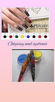 Коллекция цветных акрил Primary Odyssey Nails Systems