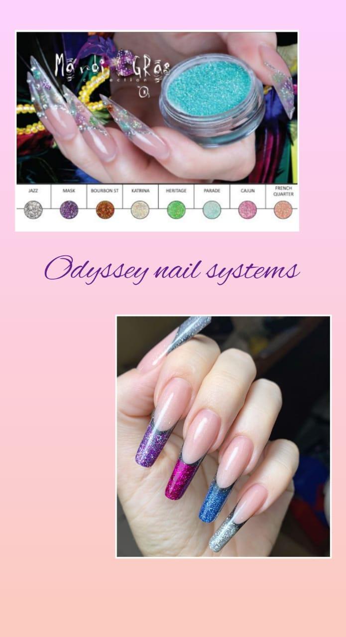 Коллекция цветных акрил Mardi Gras Odyssey Nails Systems