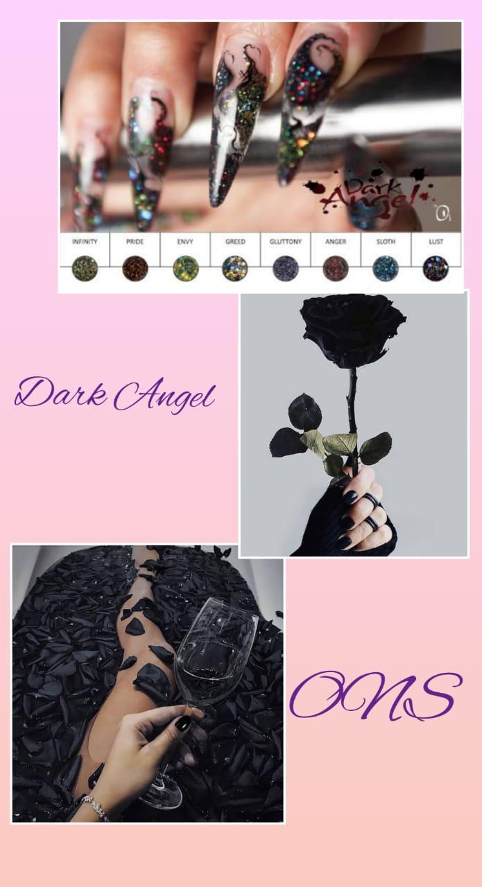Коллекция цветных акрил Dark Angel Odyssey Nails Systems