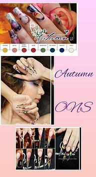 Коллекция цветных акрил Autumn (осень) Odyssey Nails Systems