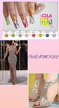 Коллекция цветных акрил Glamour Odyssey Nails Systems