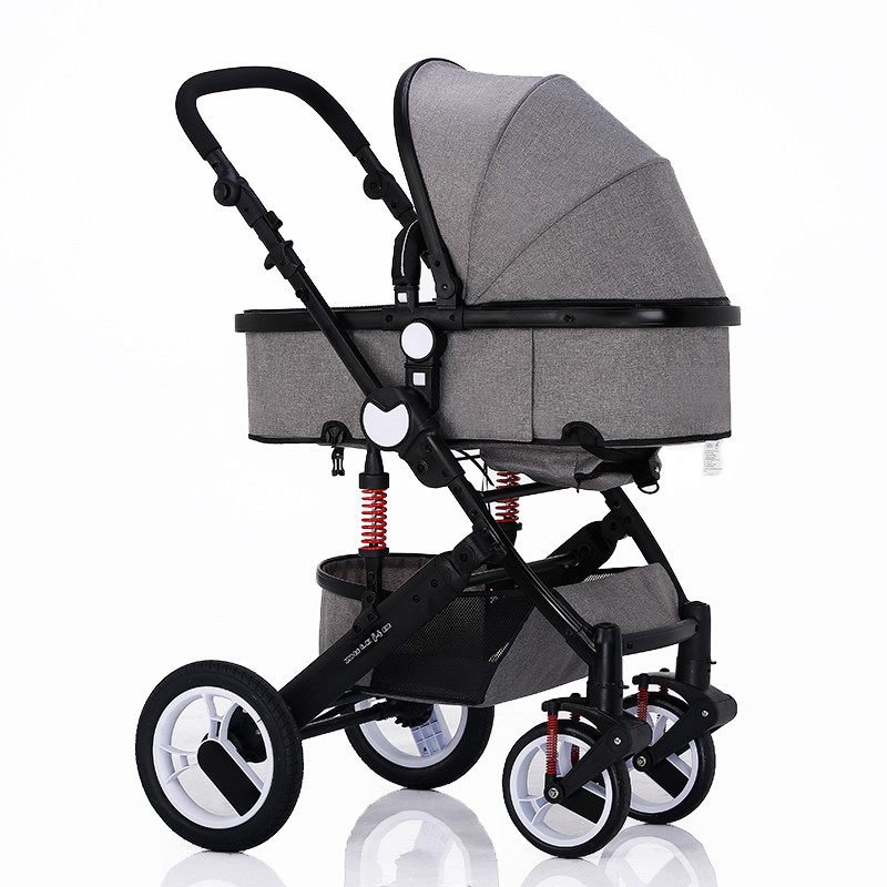 Детская коляска 2в1 Oley 588 серая