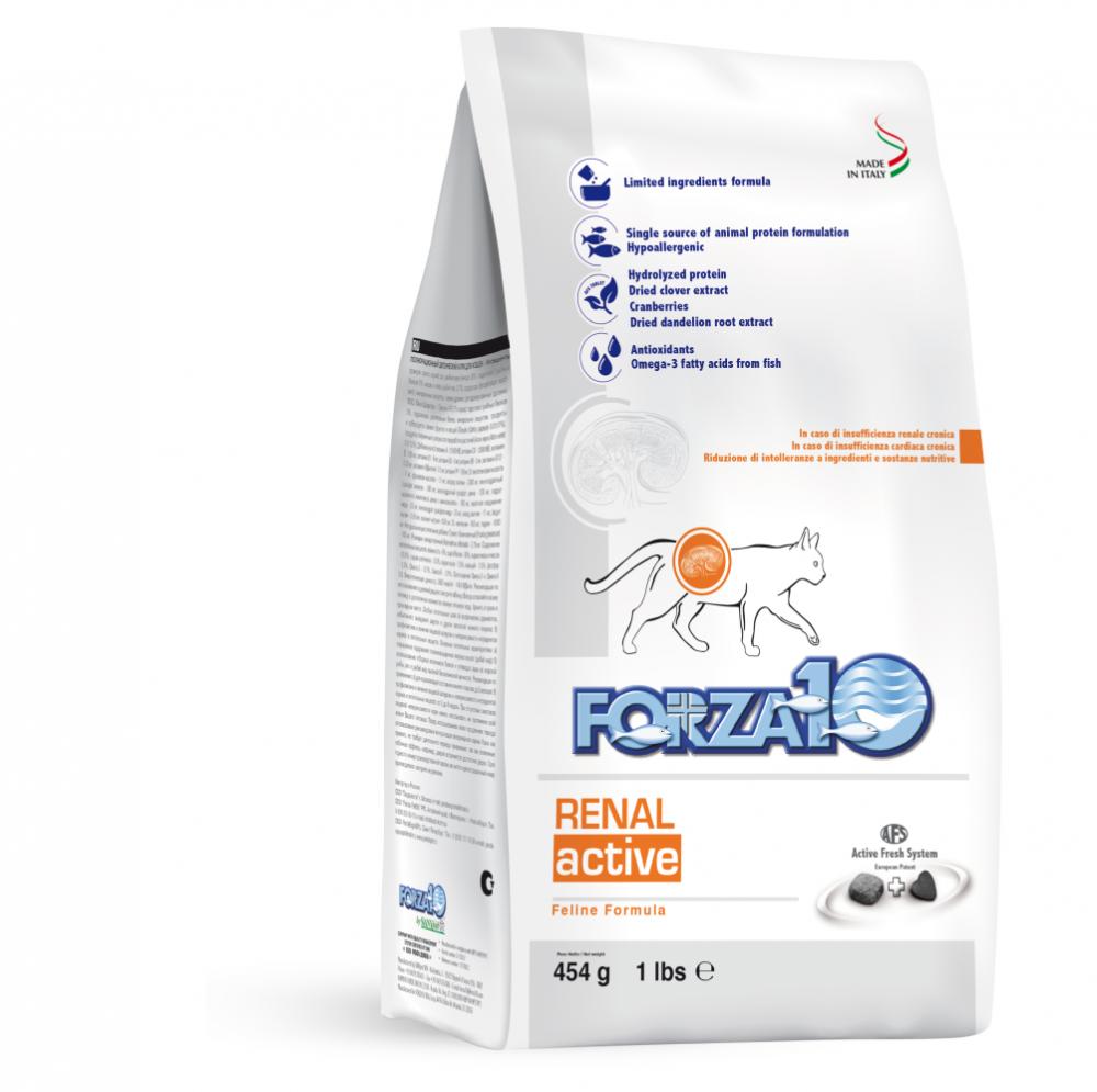 Корм Forza10 Renal Active для взрослых кошек, для поддержания функции почек (Рыба) - 1.5 кг