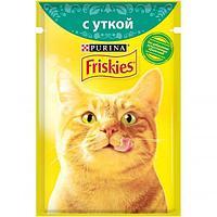 Влажный корм Friskies для взрослых кошек (Утка в подливе) - 85 г