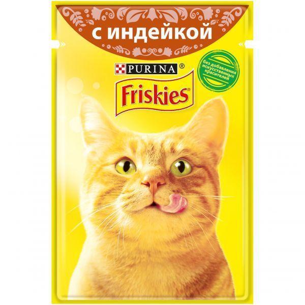 Влажный корм Friskies для кошек (Индейка в подливе) - 85 г