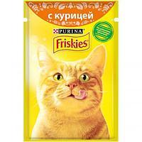 Влажный корм Friskies для кошек (Курица в подливе) - 85 г