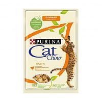 Влажный корм Cat Chow для взрослых кошек (Курица и кабачки в желе) - 85 г