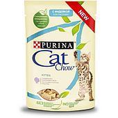 Влажный корм Cat Chow для котят (Индейка и кабачки в желе) - 85 г