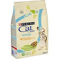 Корм Cat Chow для котят (Домашняя птица) - 1.5 кг