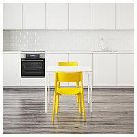 ВАНГСТА / ЯН-ИНГЕ Стол и 2 стула, белый, желтый, 80/120 см, фото 1