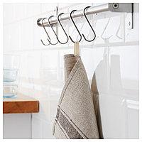 ВАРДАГЕН Полотенце кухонное, бежевый, 50x70 см