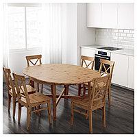 ЛЕКСВИК Раздвижной стол, морилка,антик, 126/171 см, фото 1