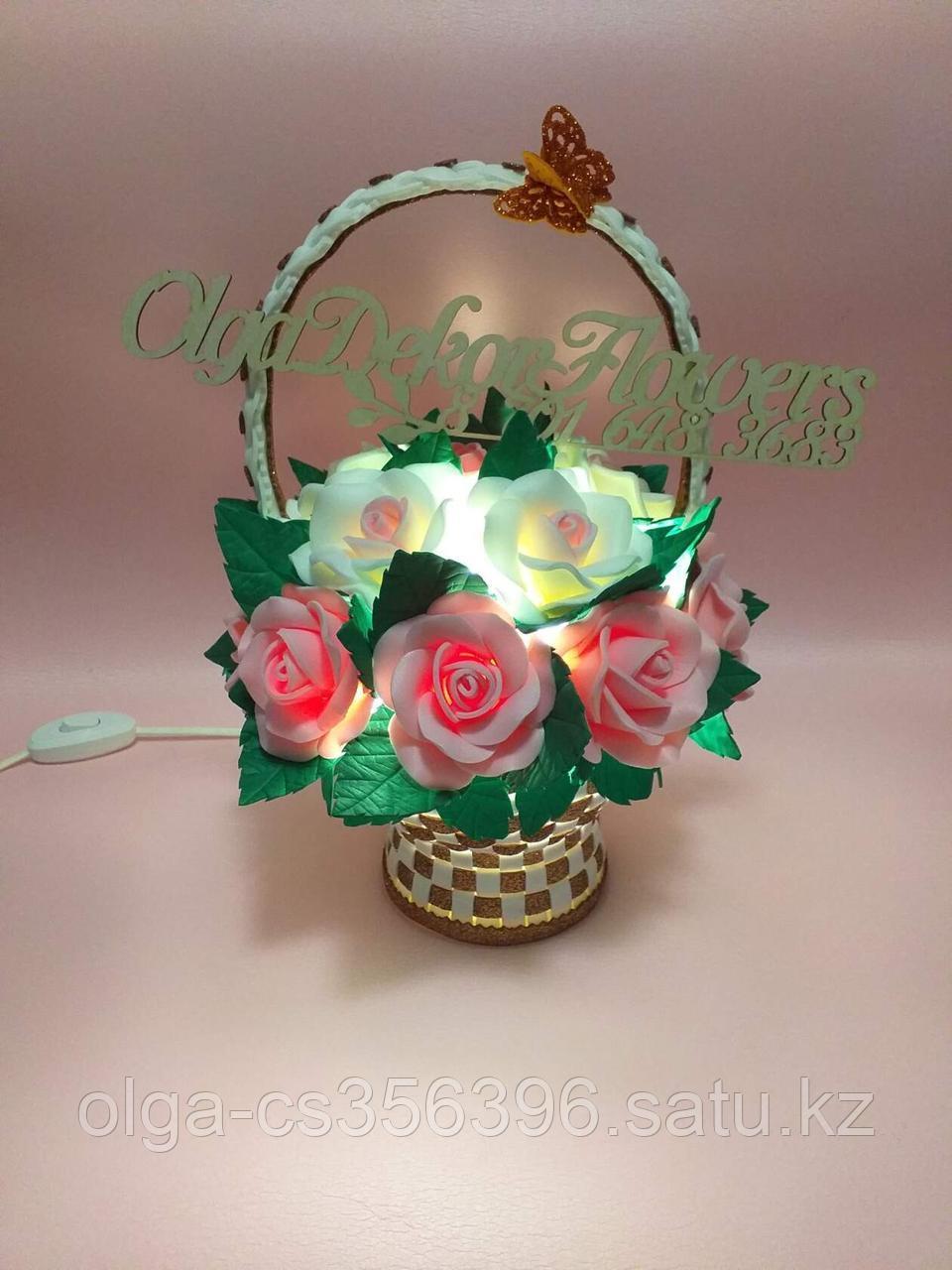Светильник. Корзинка с цветами.  Creativ 065