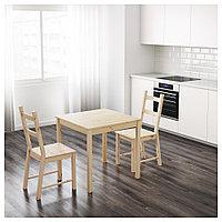 ИНГУ Стол, сосна, 75x75 см, фото 1
