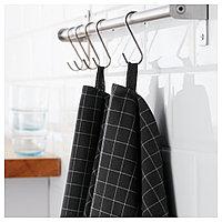 ИКЕА/365+ Полотенце кухонное, черный, 50x70 см, фото 1
