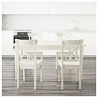 ИНГАТОРП / ИНГОЛЬФ Стол и 4 стула, белый, 155 см, фото 1